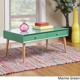MID-CENTURY LIVING Marin Danish Modern 2-drawer Accent Coffee Table