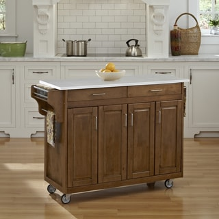 Home Styles Create-a-Cart in Cottage Oak Finish
