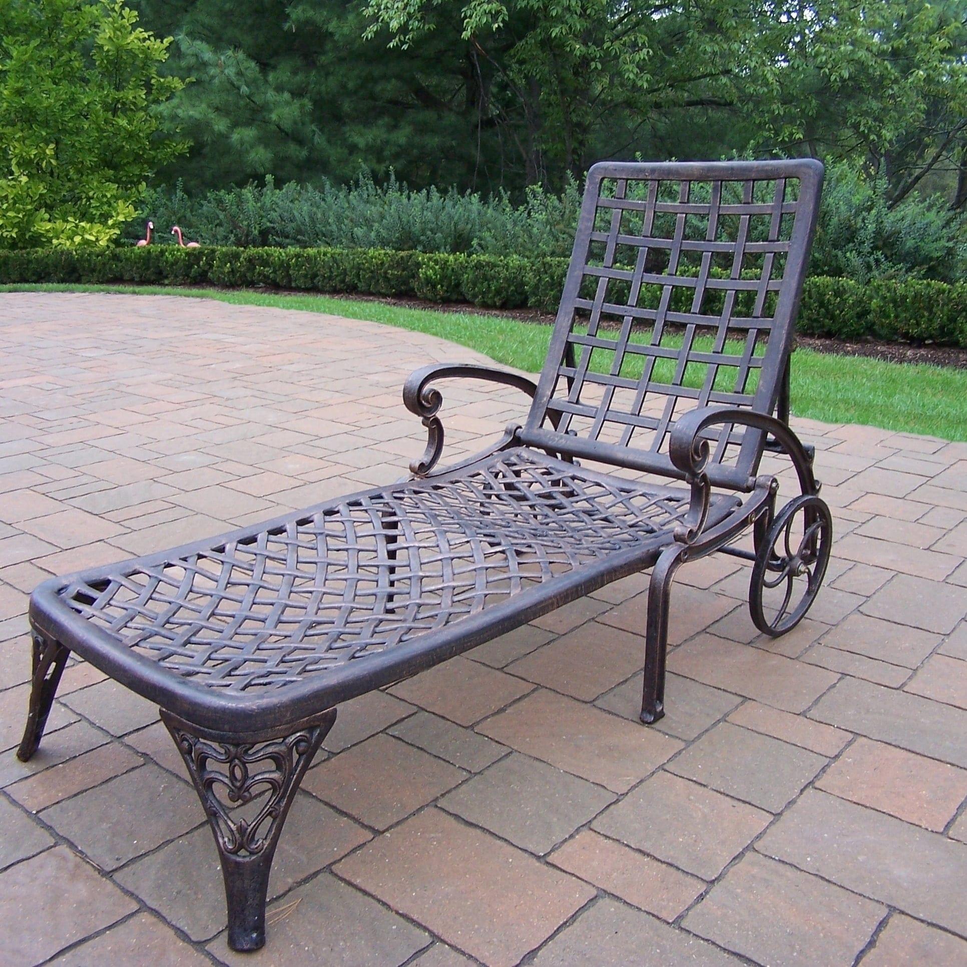 Shop Merit Cast Aluminum Wheeled Chaise Lounge Free