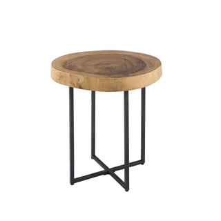 INK+IVY Arcadia Natural/Black Naturale End Table