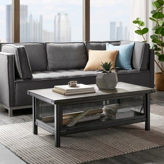 INK+IVY Cody Grey Storage Coffee Table