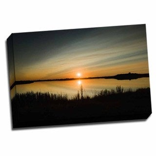 Picture It on Canvas 'Sunset IV' Wrapped Canvas Wall Art (24 x 16)