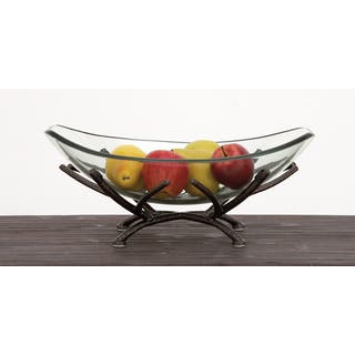 Urban Designs Adele Clear Art Glass Centerpiece Decorative Bowl with Iron Frame|https://ak1.ostkcdn.com/images/products/13213431/P19932182.jpg?impolicy=medium