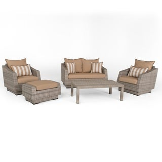 RST Brands Cannes Maxim Beige 5-piece Love and Club Seating Set