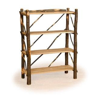 Rustic Hickory OR Hickory & Oak Four Shelf Book Case