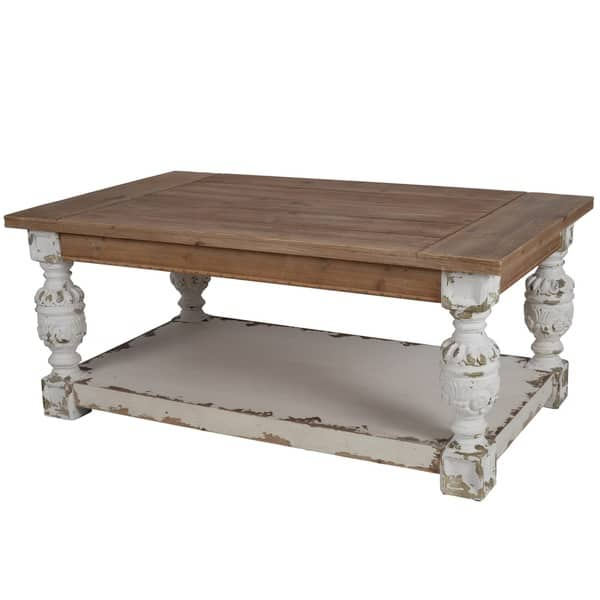 Fabulous Distressed White Wood Base Coffee Table Dailytribune Chair Design For Home Dailytribuneorg