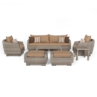 RST Brands Cannes Maxim Beige 8-piece Sofa and Club Chair Set