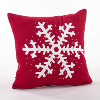 Studded Snowflake Throw Pillow