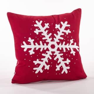 Studded Snowflake Throw Pillow