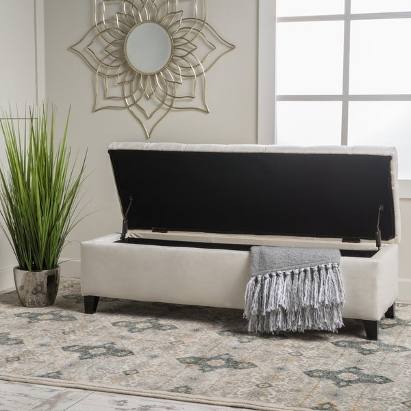 Ottilie Button-tufted Storage Ottoman Bench by Christopher Knight Home. Opens flyout.