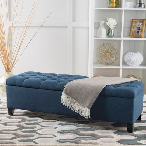 Ottilie Button-tufted Storage Ottoman Bench by Christopher Knight Home