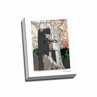 Picture It on Canvas 'Martin Luther King Sculpture Washington DC' Wrapped Canvas