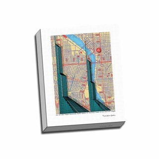 Picture It on Canvas 'Oregon Convention Center' 16-inch x 20-inch Wrapped Canvas Wall Art