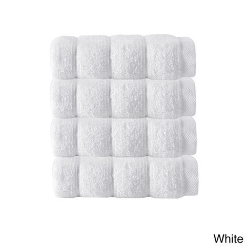 Strick & Bolton Hines 100-percent Turkish Micro Cotton Wash Cloths 4-piece Set - Washcloths 12 x 12
