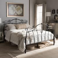 Baxton Studio Semele Antique Bronze Finished Metal Platform Bed