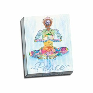 Picture It on Canvas 'Peace Yogi' Wrapped Canvas 16-inch x 20-inch Wall Art
