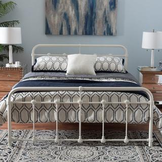 Baxton Studio Platon Industrial Style White Finished Metal Platform Bed