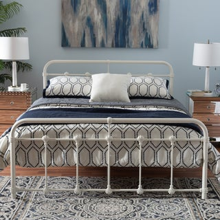 Havenside Home Belvon Industrial Style White Finished Metal Platform Bed (2 options available)