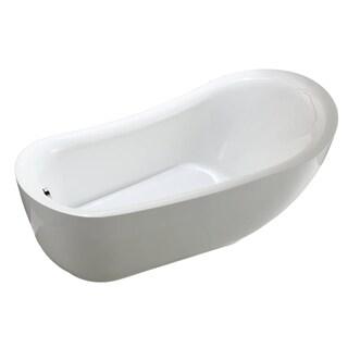 """Zuma 6512 70"""" Modern Freestanding Acrylic Bathtub"""