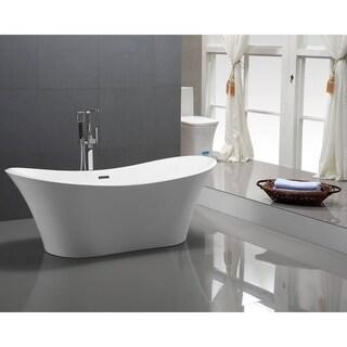 "Torrance 6518 70"" Modern Freestanding Acrylic Bathtub"