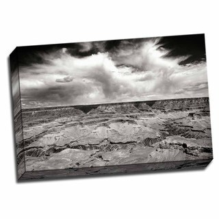 Grand Canyon Winds BW 24x16 Wrapped Canvas
