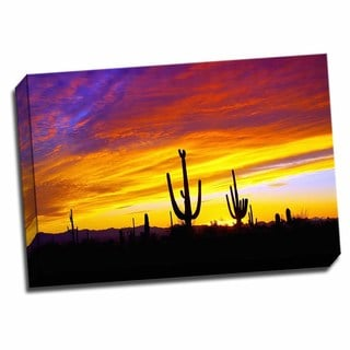 Picture It on Canvas 'Equinox Sunset' 24-inch x 16-inch Wrapped Canvas Art