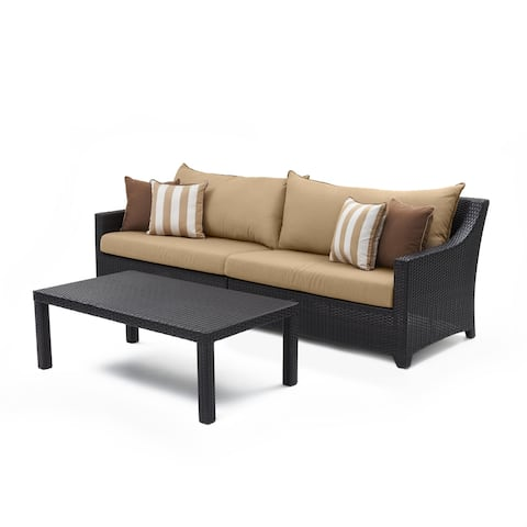 RST Brands Maxim Beige Deco Sofa with Coffee Table