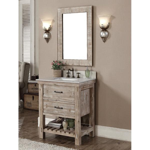 Shop Infurniture Rustic Style 30 Inch Single Sink Bathroom