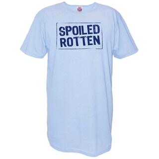 My Favorite Nightshirt 'Spoiled Rotten' Cotton Nightshirt