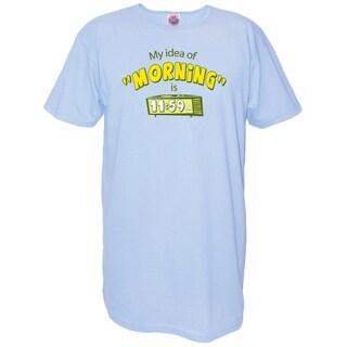 My Favorite Nightshirt Blue Cotton 'My Idea of Morning Is 11:59' Nightshirt