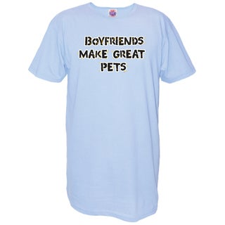 My Favorit Nightshirt Blue Cotton 'Boyfriends Make Great Pets' Nightshirt