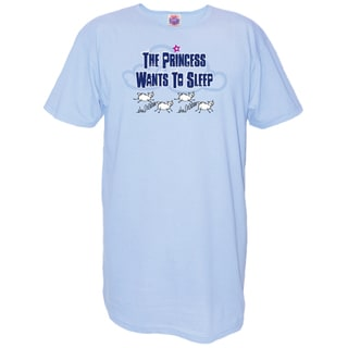 'The Princess Wants to Sleep' Blue Cotton Nightshirt