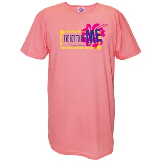 'I've Got To Be Me' Pink Cotton Nightshirt