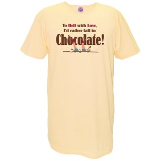 'To Hell With Love I'd Rather Fall in Love with Chocolate' Cotton Nightshirt