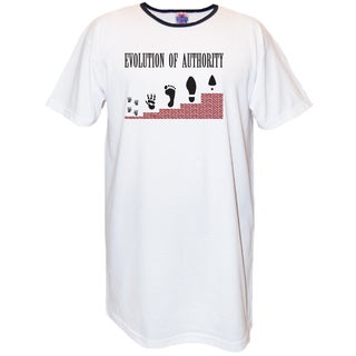 'Evolution of Authority' White Cotton Nightshirt