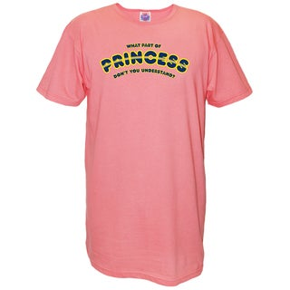 Pink Cotton What Part of Princess Don't You Understand? Nightshirt