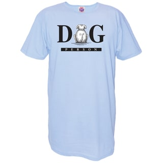 'Dog Person' Blue Cotton Oversized Nightshirt