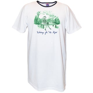 Women's 'Waiting For Mr. Right' Multicolored Cotton Nightshirt