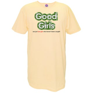 Women's 'Good Girls Are Just Bad Girls That Haven't Been Caught' Multicolored Cotton Nightshirt