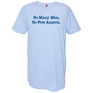 My Favorite Nightshirt Blue Cotton 'So Many Men So Few Aspirin' Nightshirt