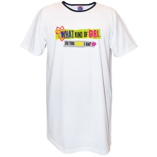 My Favorite Nightshirt 'What Kind of a Girl Do You Think I Am?' Cotton Nightshirt