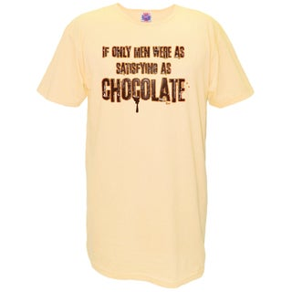 'If Only Men Were As Satisfying As Chocolate' Cotton Nightshirt