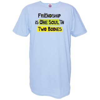 My Favorite Nightshirt Blue Cotton 'Friendship is One Soul in Two Bodies' Nightshirt