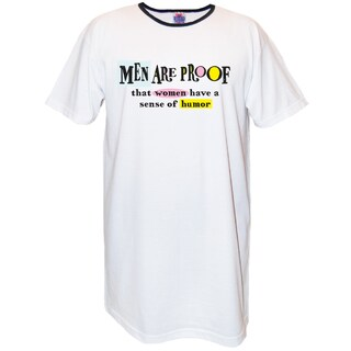 My Favorite Nightshirt 'Men Are Proof That Women Have a Sense of Humor' Cotton Nightshirt