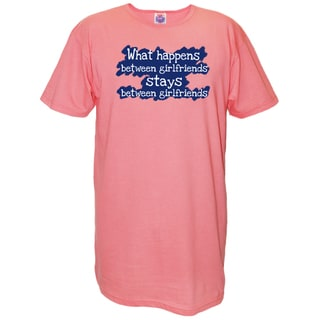 Women's 'What Happens Between Girlfriends Stays Between Girlfriends' Multicolored Cotton Nightshirt