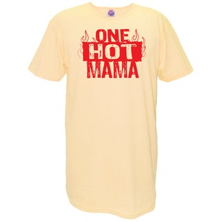 'One Hot Mama' Yellow Cotton Nightshirt