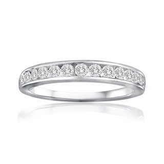 10k White Gold 1ct TDW Diamond Wedding Band (I/J- I2)