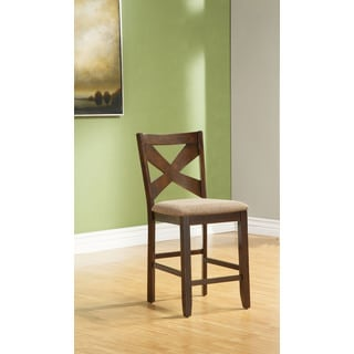 Alpine Albany Brown Wood Counter-height Chairs (Set of 2)