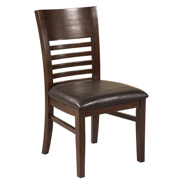 Admirable Alpine Granada Brown Wood Dining Chairs Set Of 2 Short Links Chair Design For Home Short Linksinfo