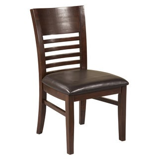 Alpine Granada Brown Wood Dining Side Chairs (Set of 2)